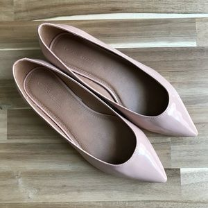ASOS LATCH Wide Fit Pointed Ballet Flats UK 8